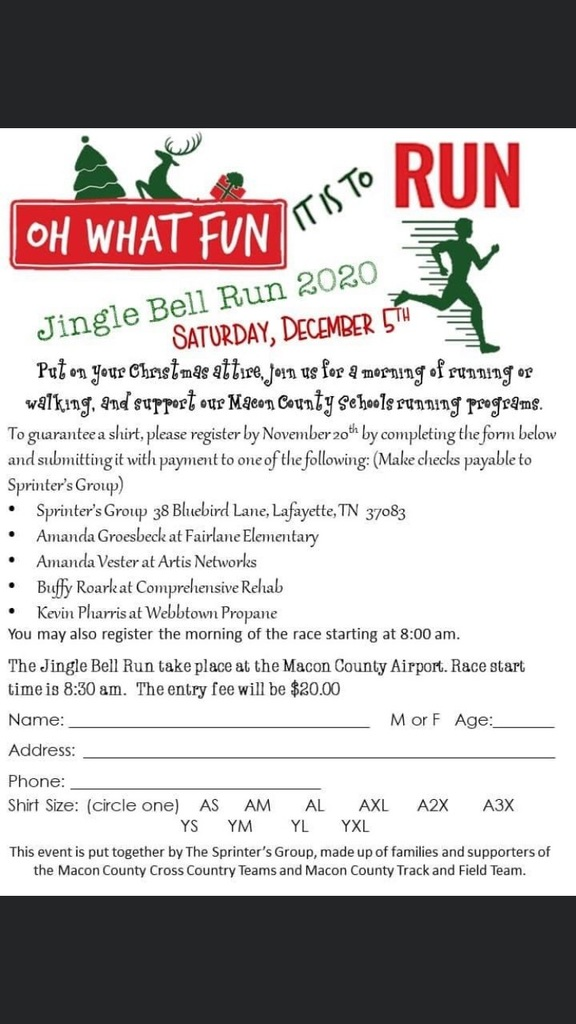 Jingle Bell Run flyer