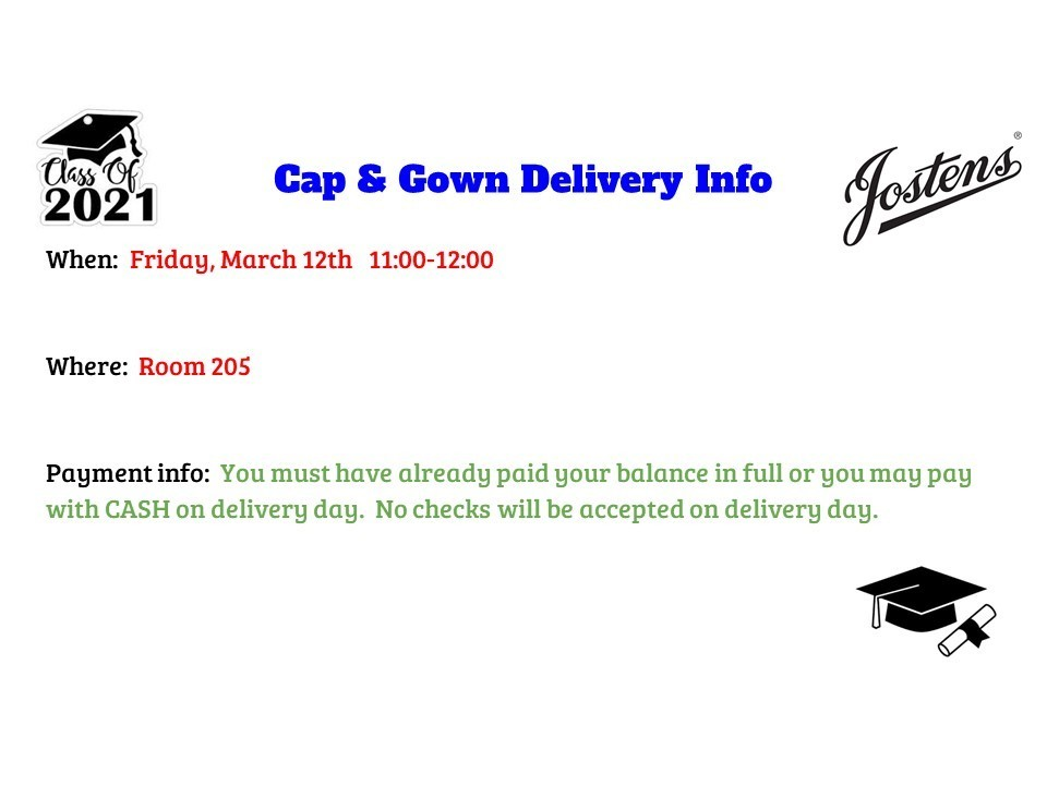 MCHS Cap and Gown Info