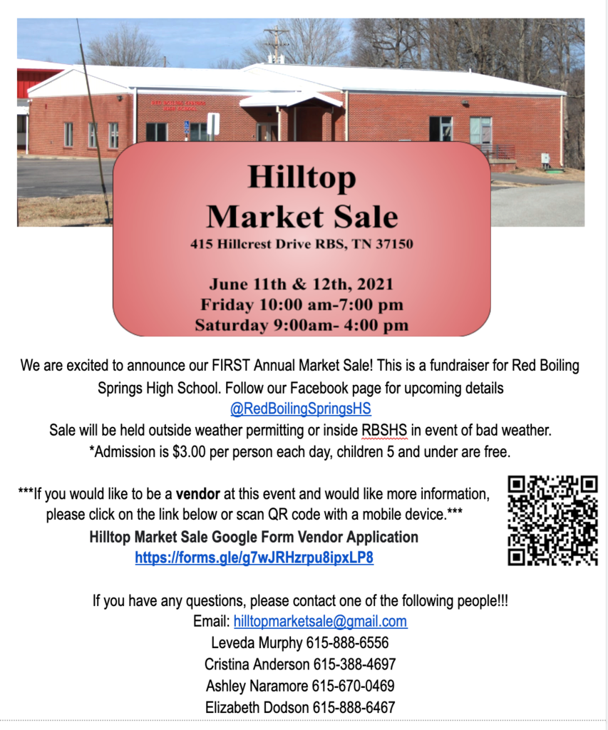 RBSHS Market Sale Flyer