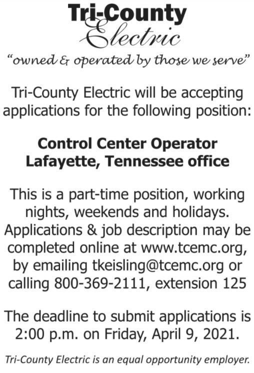 Tri-County Electric Job Flyer