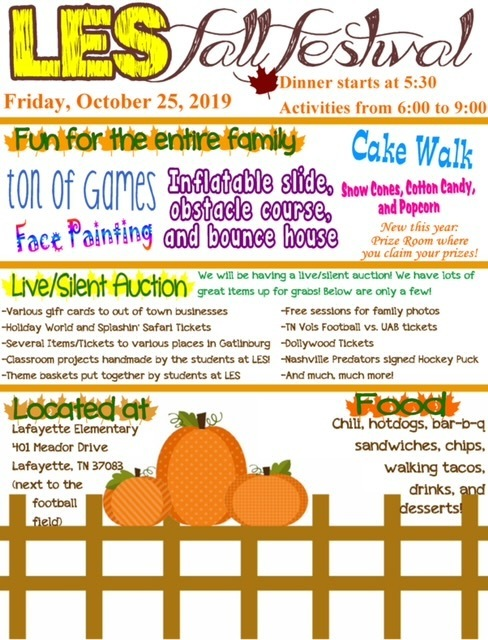 LES Fall Festival Flyer