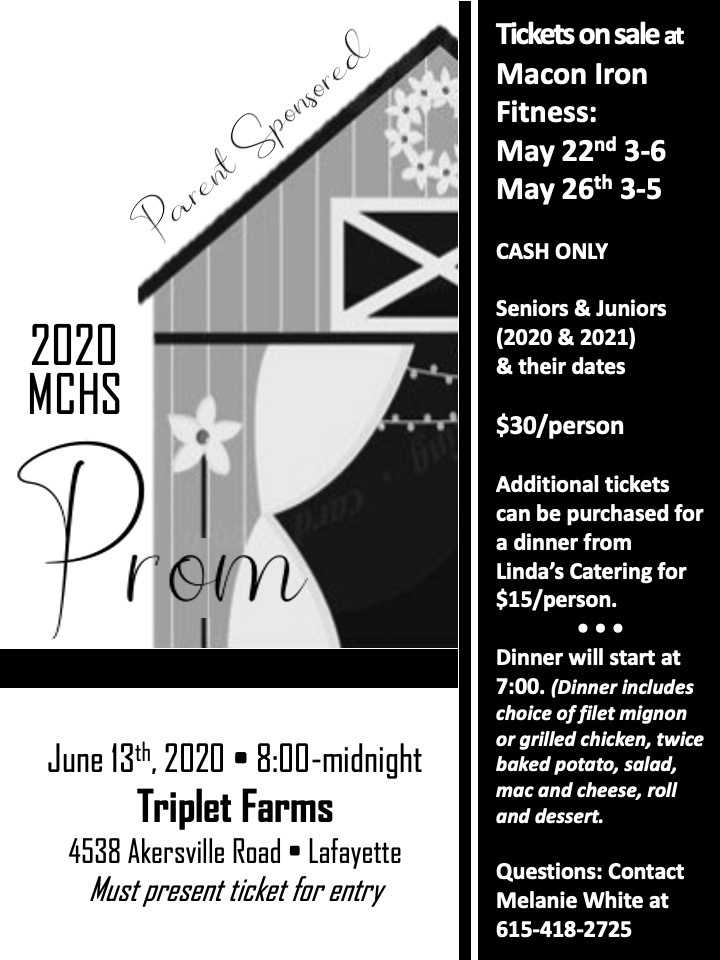 Parent Led Prom flyer