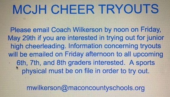 mcjh cheer tryouts